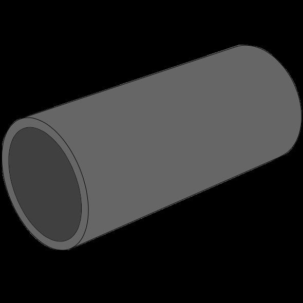 Tube PE100 Pression noir SDR17 - S8 - PN10 - Ø50