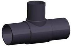 Té réduit PE100 PN16 - Base Ø110 - Réduction Ø63