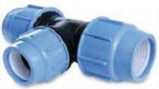 Té réduit à compression PN10 - Base Ø110 - Réduction Ø90
