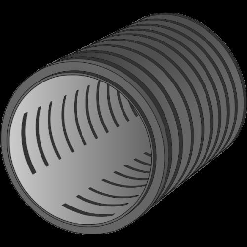 Tube strié annelé HDPE DRAIN CHOC SN8 Ø160