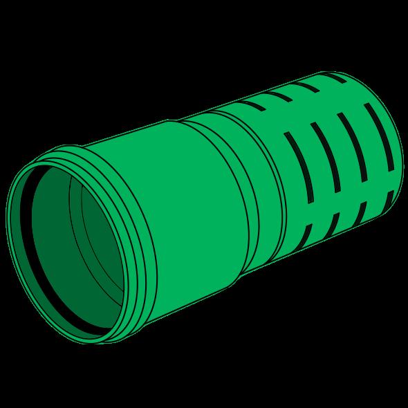 Tube de drainage PP fendu à emboîter SN8 Ø110 lg 6m