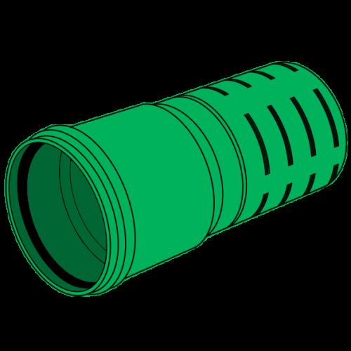 Tube de drainage PP fendu à emboîter SN8 Ø125 lg 6m