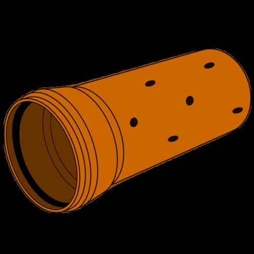 Drain PVC Structuré perforé à emboîter  - SN4 (4KN/m²)/S20 - Ø125 - Lg 5m