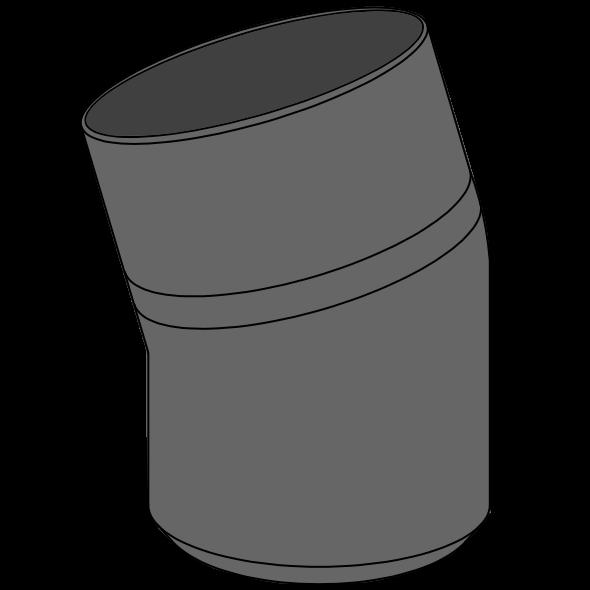 Coude HDPE à extrémité lisse Ø110 Angle 15°