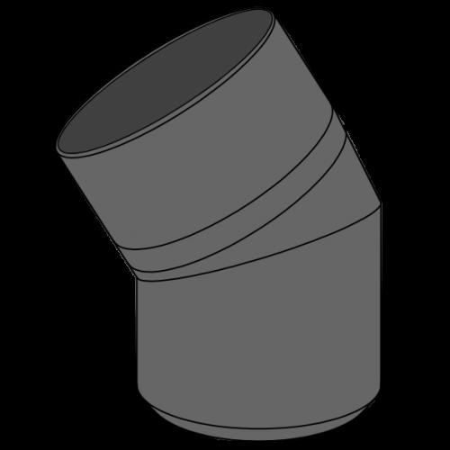 Coude HDPE à extrémité lisse Ø110 Angle 30°