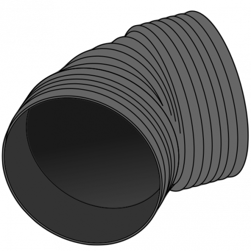 Coude PE MAGNUM Ø1200 Angle 15 à 45°