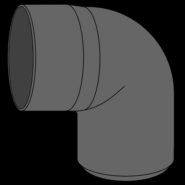 Coude HDPE à extrémité lisse Ø110 Angle 87°