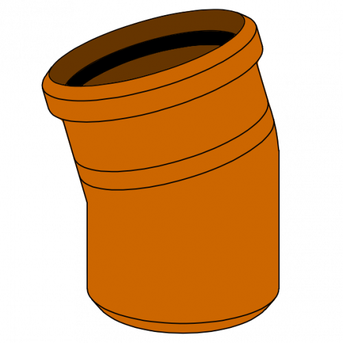 Coude PVC - Pièce façonnée - Ø630 - 15°