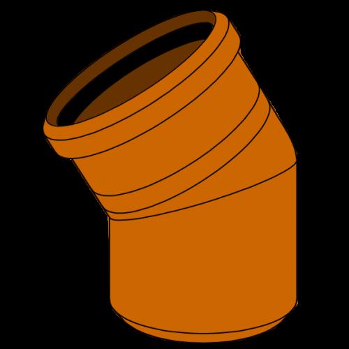 Coude PVC - Pièce façonnée - Ø630 - 30°