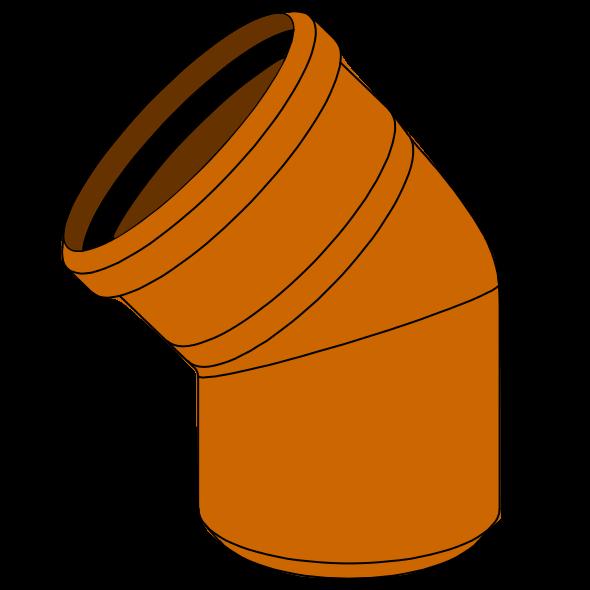 Coude PVC - Pièce façonnée - Ø500 - 45°