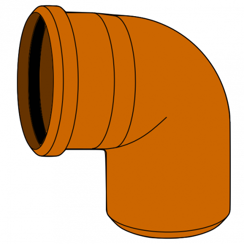 Coude PVC - Pièce façonnée - Ø630 - 87°