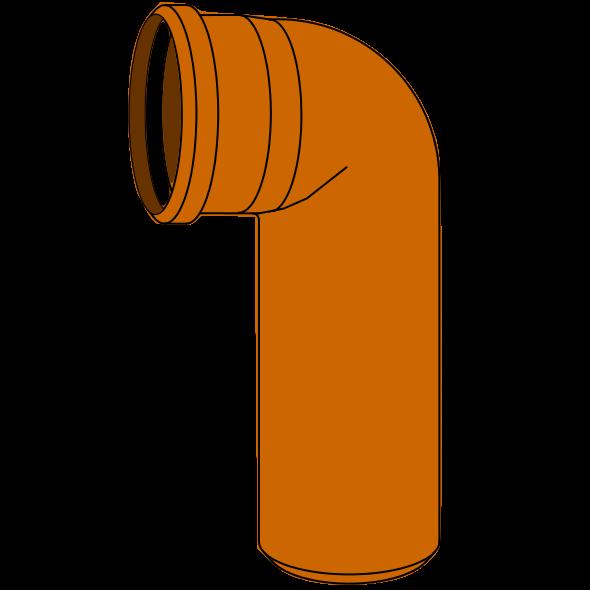 Coude Long PVC - Pièce façonnée - Ø110 - 90°