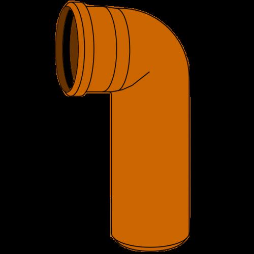 Coude Long PVC - Pièce façonnée - Ø125 - 90°