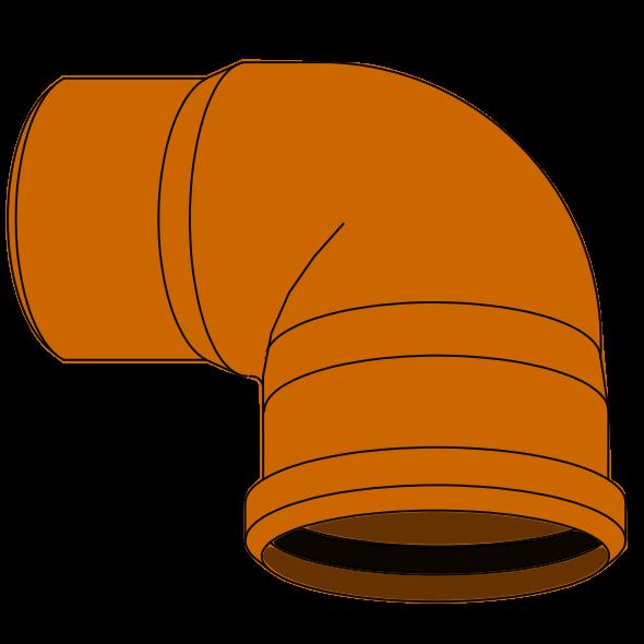 Coude Plongeur PVC - Pièce façonnée - Ø125 sans poignée