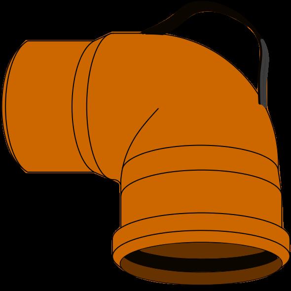 Coude Plongeur PVC - Pièce façonnée - Ø110 avec poignée