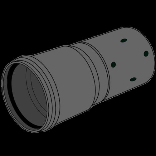 Tube Drainage PE perforé manchonné - SN2 Ø200 Lg 5m