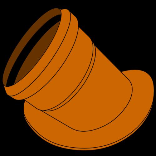 Manchette à bride PVC/Ciment - Pièce façonnée - Ø125