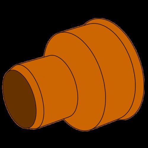 Manchette Ciment/PVC - Pièce façonnée - ØCiment 10 - ØPVC 110