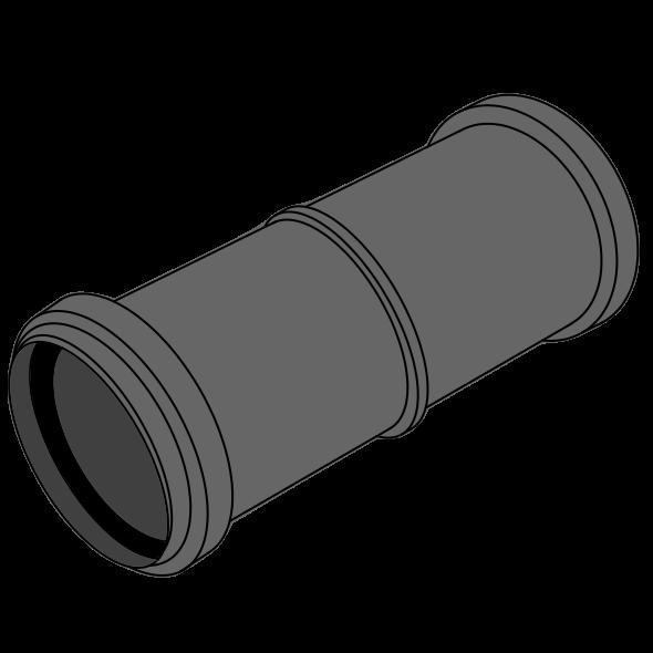 Manchon double HDPE avec emboîtement et joint incorporé Ø110