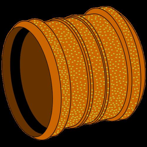 Manchon PVC sablé  Ø125