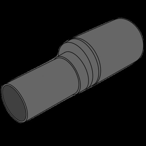 Réduction HDPE à extrémité lisse Ø160/110