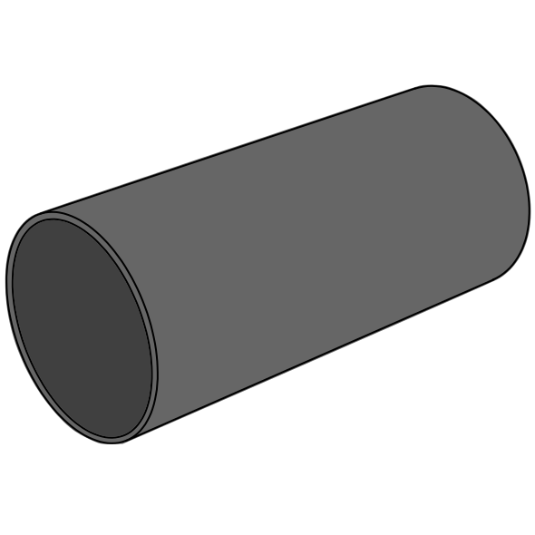 Tube HDPE compact lisse - S12,5/SDR26/SN4 - Ø110 Lg 6m