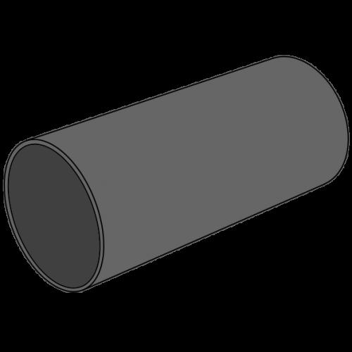 Tube HDPE compact lisse - S10/SDR21/SN8 - Ø110 Lg 6m
