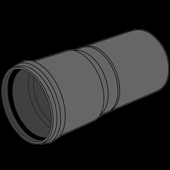 Tube manchonné HDPE compact - S16/SDR33/SN2 Ø110 Lg 5m