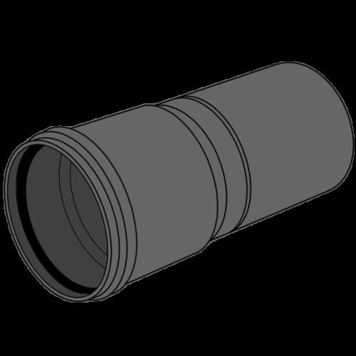 Tube manchonné HDPE compact - S12,5/SDR26/SN4 Ø125 Lg 5m