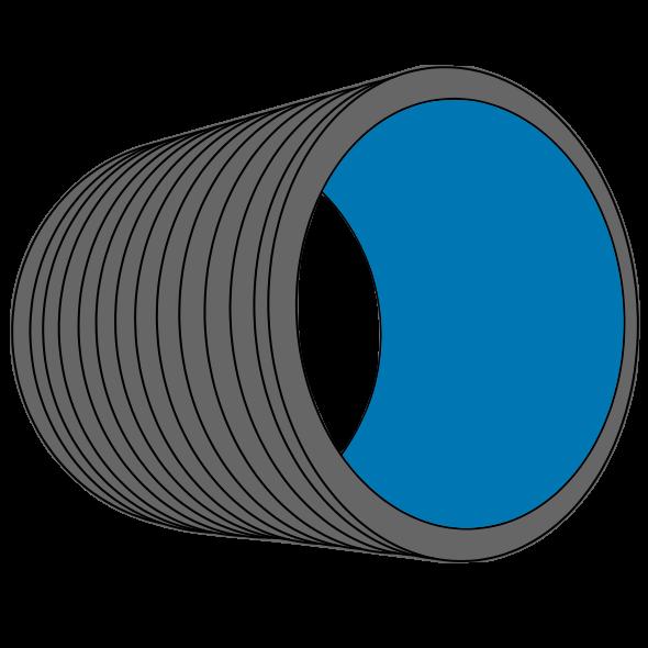 Tube PEHD SGK annelé S16/SDR33/SN2 Ø1000/1112 Lg 6m