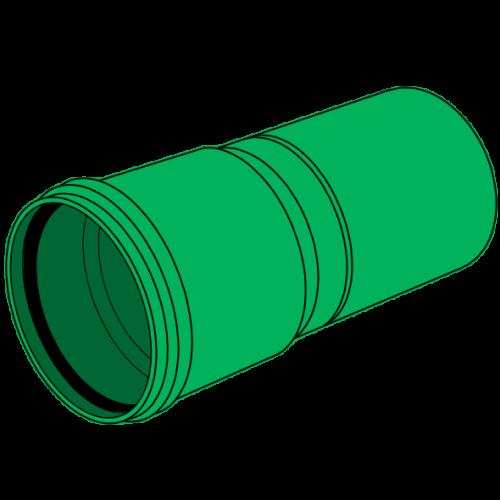 Tube PP-HM manchonné SN4 Ø125 lg 6m