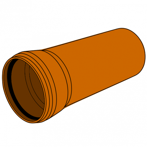 Tube PVC Compact manchonné avec joint - SIA 190 - EN 1401 - SN8/S16/SDR34 - Ø110 - Lg 5m
