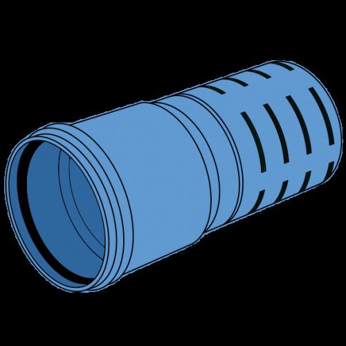 Tube de drainage PP fendu à emboîter SN16 Ø200 lg 6m