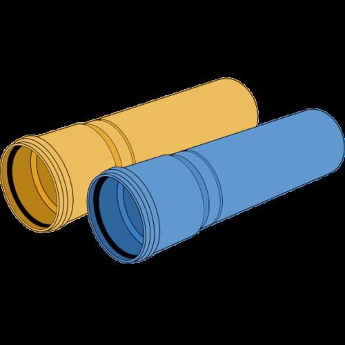 Tube PP-HM manchonné SN16 Ø125 lg 6m