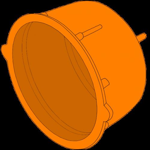 Bouchon de fermeture PEPC annelé - Ø100/125