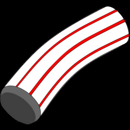 Coude rigide lisse grand rayon 90° qualité C+S - Ø100/112