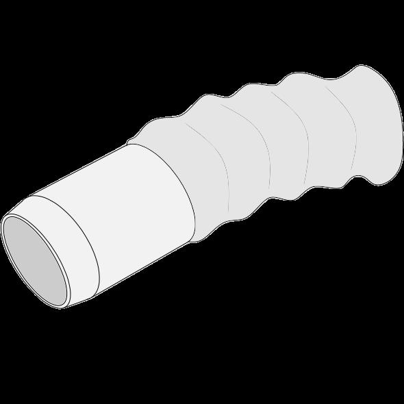 Coude flexible HDPE long 46-90° qualité C+S - Ø120/132