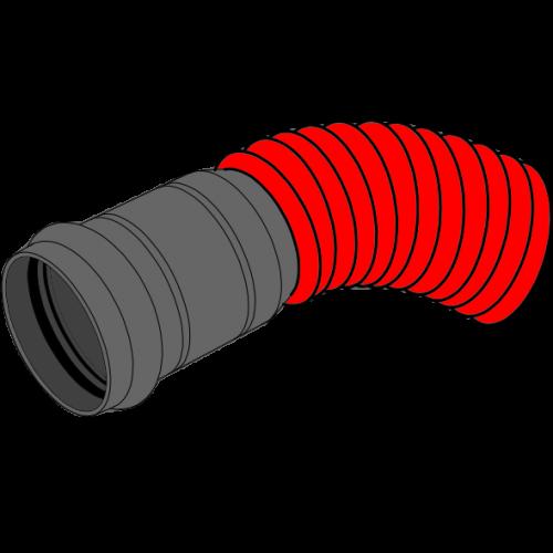 Coude manchonné VARIOFLEX Plastitech - Ø100/125/112