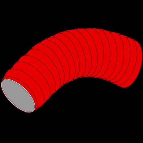 Couronne annelée HDPE 450N SN4 rouge, intérieur lisse avec ficelle de tirage Lg 50m - Ø110/94 - DN90