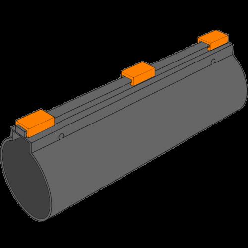 Tube PEPC fendu avec fermeture longitudinale - Ø100/112