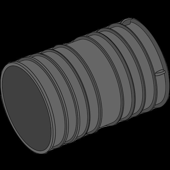 Manchon double PEPC annelé - Ø120/140