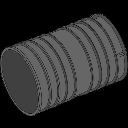 Manchon double PEPC annelé - Ø100/125