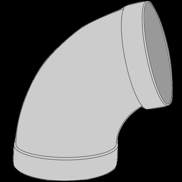 Coude PPs pré-manchonné Ø50 60°