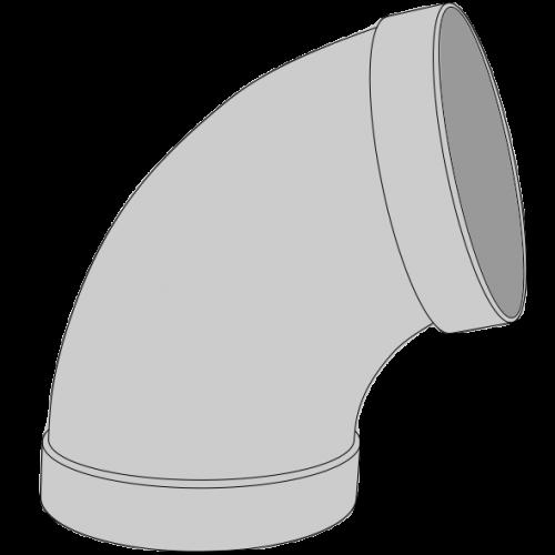 Coude PPs pré-manchonné Ø110 60°