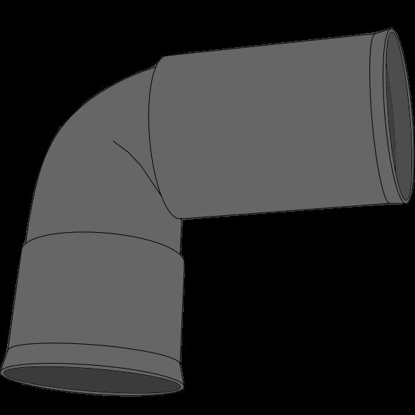 Coude à 2 manchons PEHD SDR33 Øext 40 Øint 32