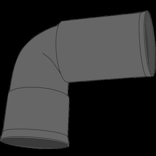 Coude à 2 manchons PEHD SDR33 Øext 110 Øint 94