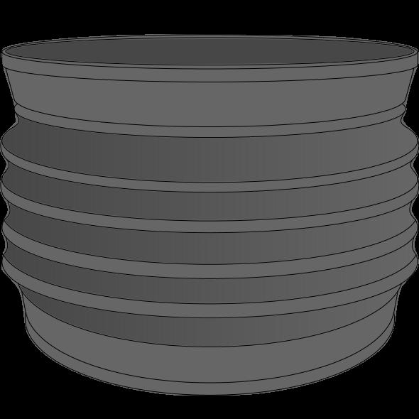 Manchette souple PP type Wellflex Ø110