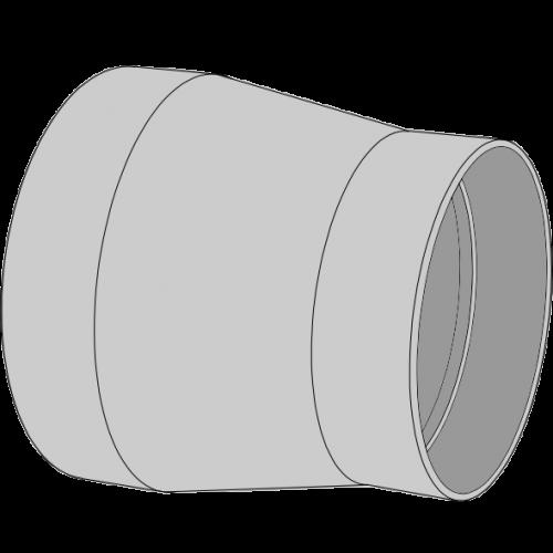 Réduction concentrique PPs pré-manchonné Ø110/50