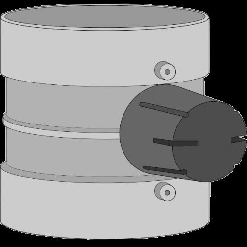 Clapet de réglage industriel PPs Ø110