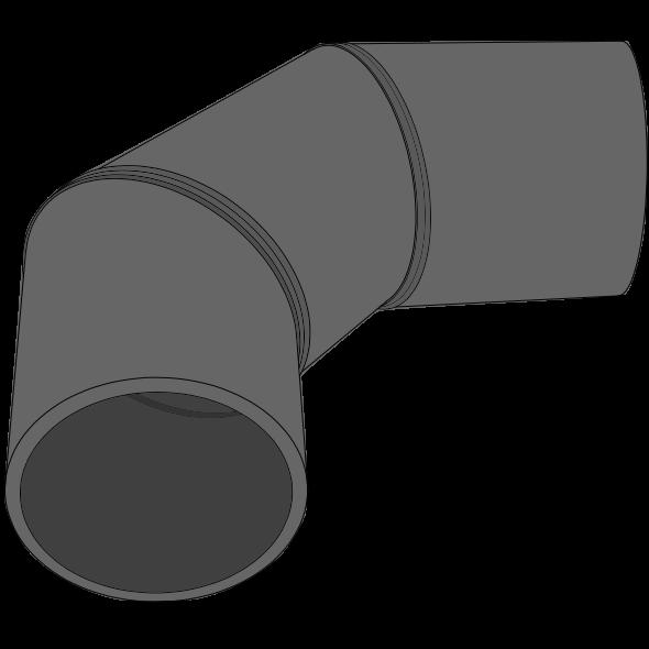 Coude PEHD SDR33/SN2 à extrémités lisses Ø125 Angle 46 - 90°